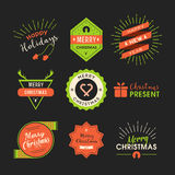 Christmas labels retro style. Vector design concept Royalty Free Stock Images