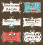 Christmas  labels with sale offer, vector. Illustration Stock Image