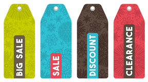 Christmas labels with sale offer, vector stock photo