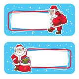 Christmas labels with santa claus Stock Photos