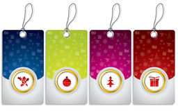 Christmas labels set Stock Images