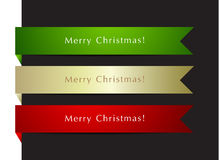 Christmas labels set. Abstract background Stock Images