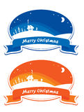 Christmas labels - set Stock Photo