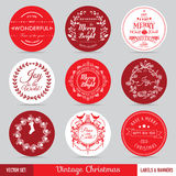 Christmas Labels Set. Christmas Labels, Banners and Tags Set - in vector Royalty Free Stock Photo