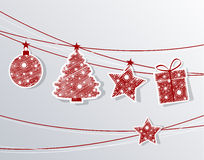 Christmas labels Stock Photography