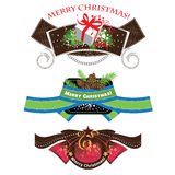Christmas labels, set elements Royalty Free Stock Photos