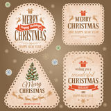 Christmas labels set Stock Photography