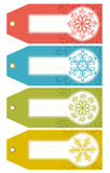 Christmas labels with snowflakes and place for tex royalty free stock images