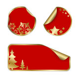 Christmas labels and stickers Stock Images