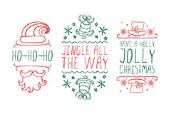 Christmas labels with text on white background Royalty Free Stock Image