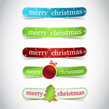 Christmas labels with tree, christmas ball Stock Photo