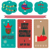 Christmas labels Royalty Free Stock Photos