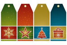 Christmas  labels, vector Royalty Free Stock Images