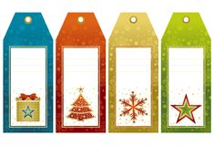 Christmas  labels, vector Stock Image