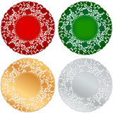 Christmas Lace Doily Place Mats Stock Photo