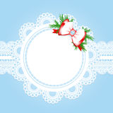 Christmas lace frame Stock Image