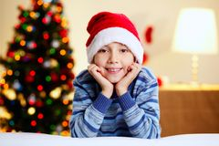 Christmas lad Royalty Free Stock Image