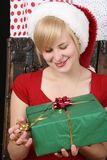 Christmas lady Royalty Free Stock Images