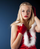 Christmas lady Stock Image