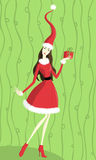Christmas lady Royalty Free Stock Image