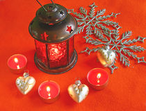 Christmas lamp Stock Image