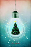 Christmas lamp royalty free illustration