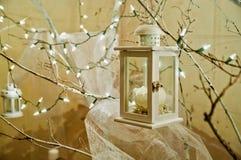 Christmas lamp. Greeting Card Christmas decorative lamps royalty free stock image