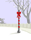 Christmas Lamp Post Royalty Free Stock Photography