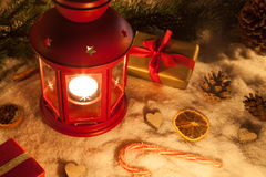 Christmas lamp Stock Photos