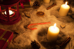 Christmas lamp Royalty Free Stock Images