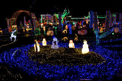Christmas land of lights. It is like a Christmas lights theme park Stock Image