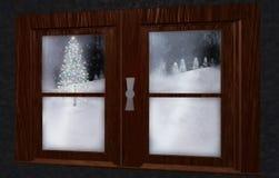 Christmas landscape Stock Images