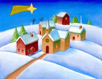 Christmas landscape royalty free illustration