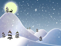 Christmas landscape Royalty Free Stock Images