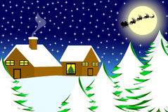 Christmas landscape Royalty Free Stock Photo