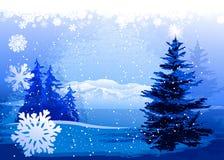 Christmas landscape Royalty Free Stock Photos