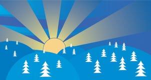 Christmas landscape royalty free illustration