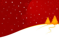 Christmas landscape Royalty Free Stock Photography