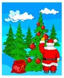 Christmas landscape Stock Photography