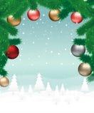 Christmas landscape background Stock Image