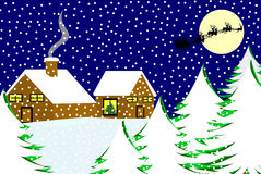 Christmas Landscape Stock Photo