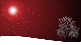 Christmas landscape card. For your greeting message Stock Images