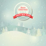 Christmas landscape. Royalty Free Stock Photography