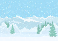 Christmas landscape, night winter forest Royalty Free Stock Photos