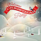 Christmas landscape Poster. EPS 10 Stock Images