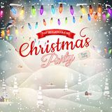 Christmas landscape Poster. EPS 10 Royalty Free Stock Image