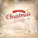 Christmas landscape Poster. EPS 10 Royalty Free Stock Photos