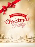Christmas landscape Poster. EPS 10 Royalty Free Stock Photography