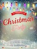 Christmas landscape Poster. EPS 10 Stock Image