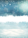 Christmas landscape with snow. EPS 10 Royalty Free Stock Photos